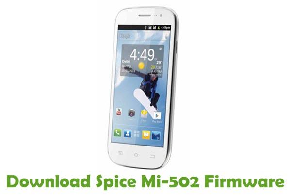 Download Spice Mi-502 Stock ROM