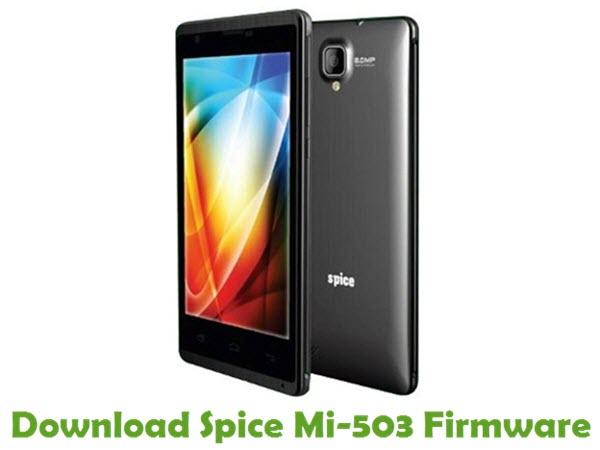 Download Spice Mi-503 Stock ROM
