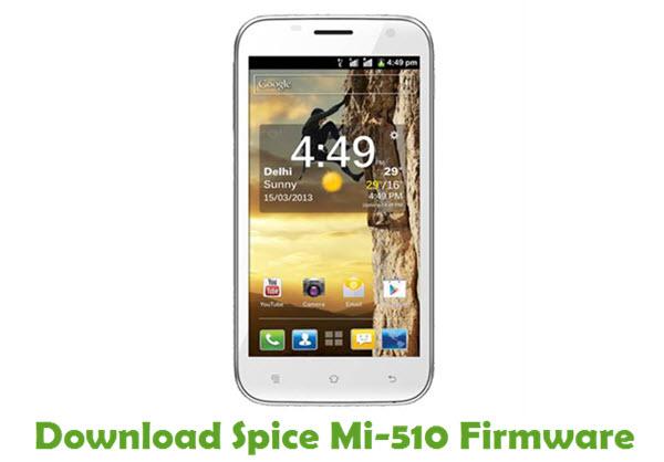 Download Spice Mi-510 Stock ROM