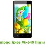 Spice Mi-549 Firmware