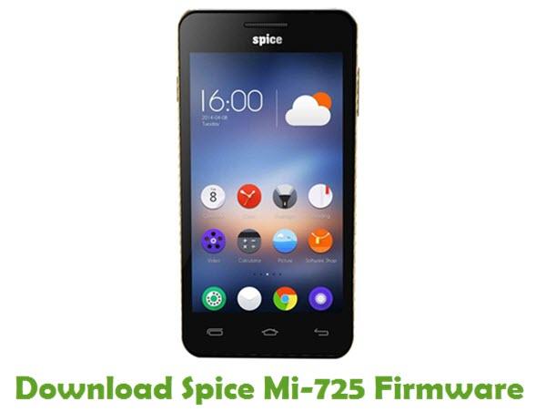 Download Spice Mi-725 Stock ROM