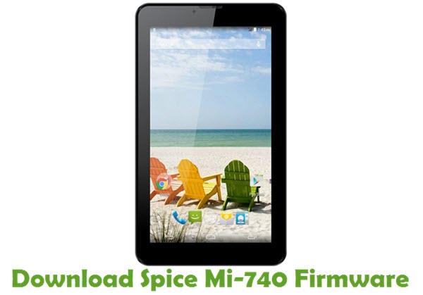 Download Spice Mi-740 Stock ROM