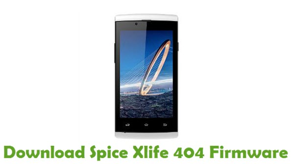 Download Spice Xlife 404 Stock ROM