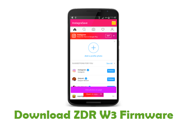 Download ZDR W3 Firmware