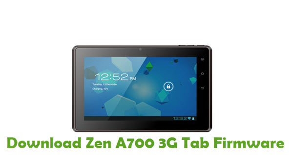 Download Zen A700 3G Tab Firmware