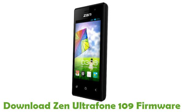 Download Zen Ultrafone 109 Firmware