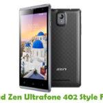 Zen Ultrafone 402 Style Firmware