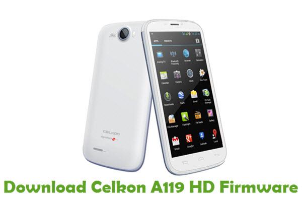 Download Celkon A119 HD Firmware