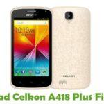 Celkon A418 Plus Firmware
