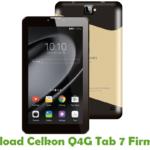Celkon Q4G Tab 7 Firmware