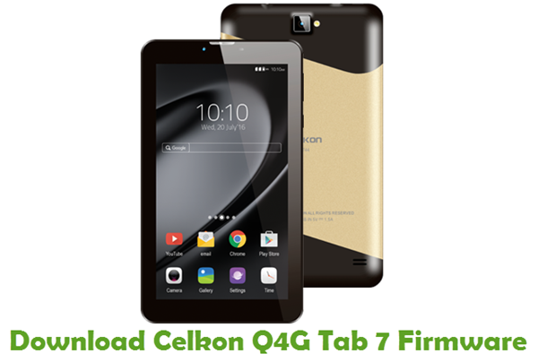 Download Celkon Q4G Tab 7 Firmware