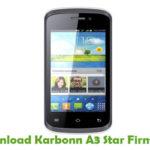 Karbonn A3 Star Firmware
