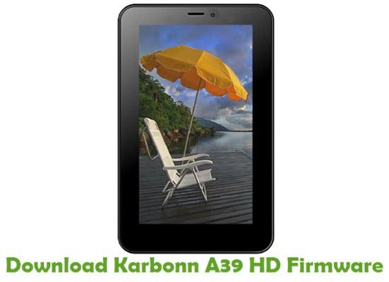 Download Karbonn A39 HD Firmware