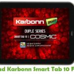 Karbonn Smart Tab 10 Firmware