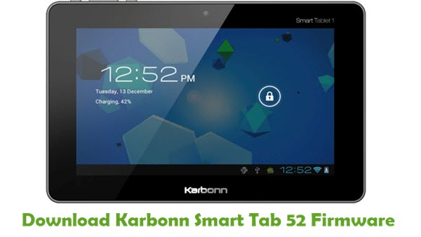 Download Karbonn Smart Tab 52 Firmware