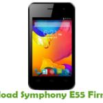Symphony E55 Firmware