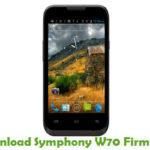 Symphony W70 Firmware