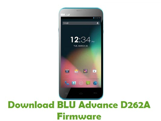 Download BLU Advance D262A Firmware