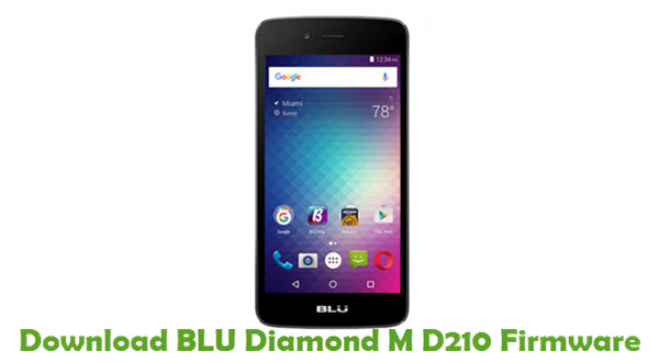 Download BLU Diamond M D210 Firmware
