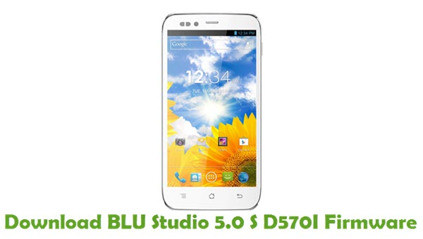 Download BLU Studio 5.0 S D570I Firmware