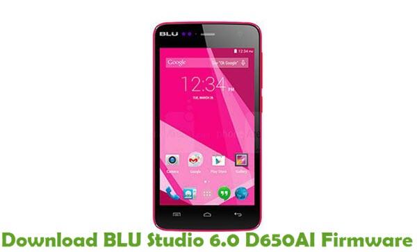 Download BLU Studio 6.0 D650AI Firmware