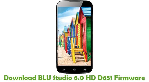 Download BLU Studio 6.0 HD D651 Firmware