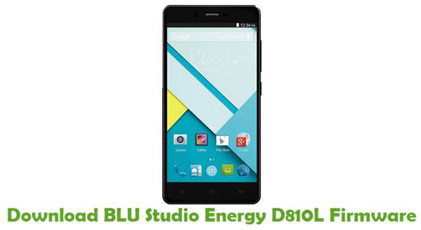 Download BLU Studio Energy D810L Firmware