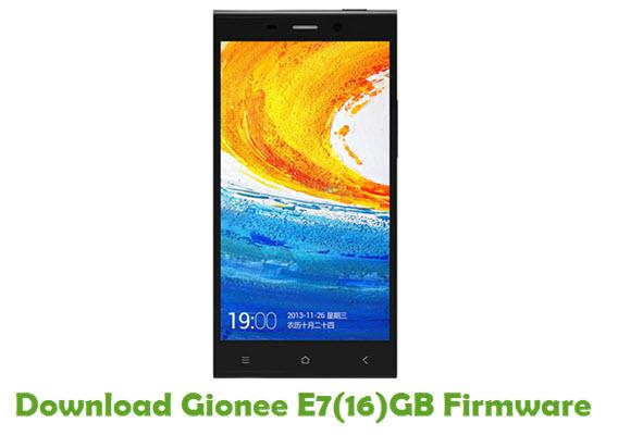 Download Gionee E7(16)GB Firmware