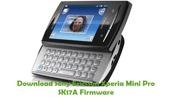 Sony Ericsson Xperia Mini Pro SK17A Firmware