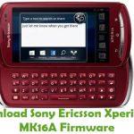 Sony Ericsson Xperia Pro MK16A Firmware