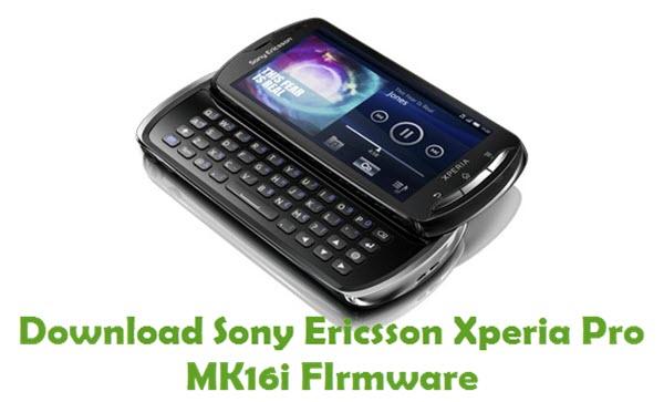 Download Sony Ericsson Xperia Pro MK16i Firmware