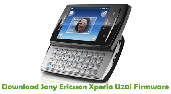 Download Sony Ericsson Xperia U20i Firmware