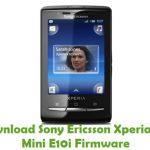 Sony Ericsson Xperia X10 Mini E10i Firmware