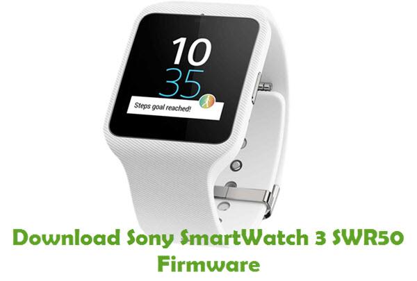 Download Sony SmartWatch 3 SWR50 Firmware