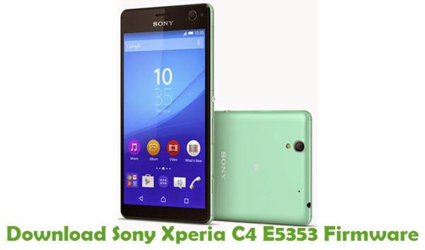 Download Sony Xperia C4 E5353 Firmware