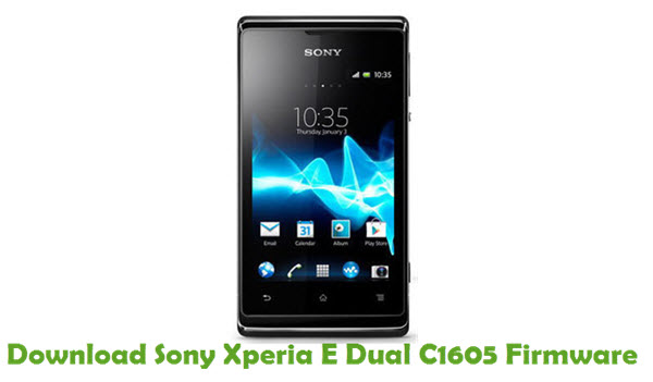 Download Sony Xperia E Dual C1605 Firmware