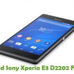 Sony Xperia E3 D2202 Firmware