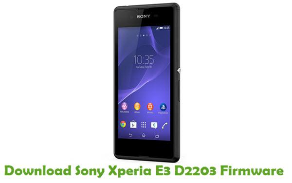 Download Sony Xperia E3 D2203 Firmware