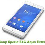 Sony Xperia E4G Aqua E2033 Firmware