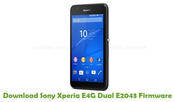 Download Sony Xperia E4G Dual E2043 Firmware