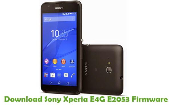 Download Sony Xperia E4G E2053 Firmware