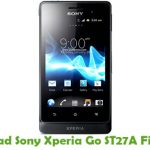 Sony Xperia Go ST27A Firmware