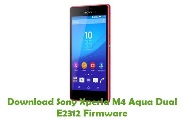 Download Sony Xperia M4 Aqua Dual E2312 Firmware