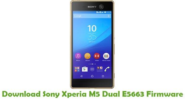 Download Sony Xperia M5 Dual E5663 Firmware