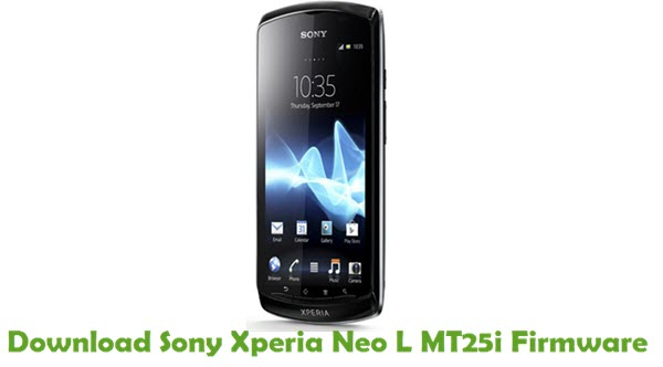 Download Sony Xperia Neo L MT25i Firmware