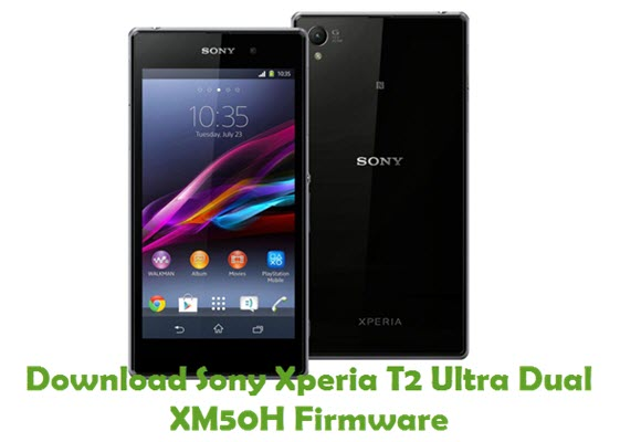 Download Sony Xperia T2 Ultra Dual XM50H Firmware