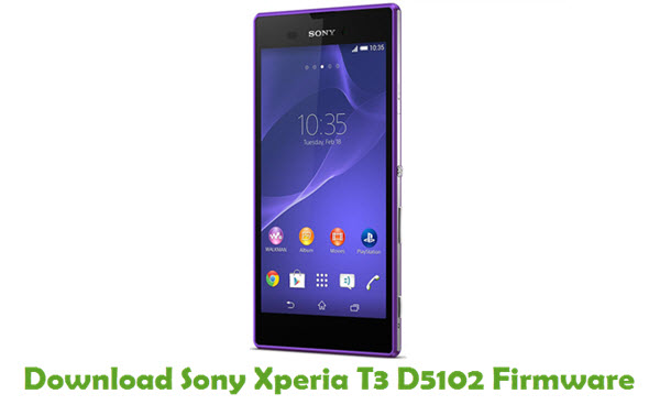 Download Sony Xperia T3 D5102 Firmware