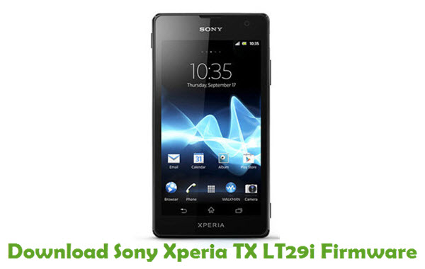 Download Sony Xperia TX LT29i Firmware