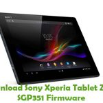 Sony Xperia Tablet Z LTE SGP351 Firmware