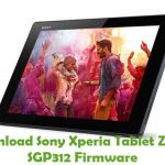 Sony Xperia Tablet Z WiFi SGP312 Firmware